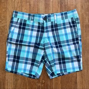 Aeropastle Blue Plaid Bermuda Shorts